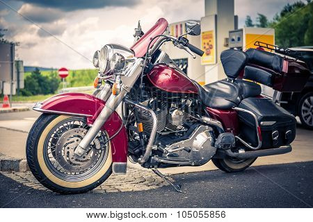 Chopper On Gas Station