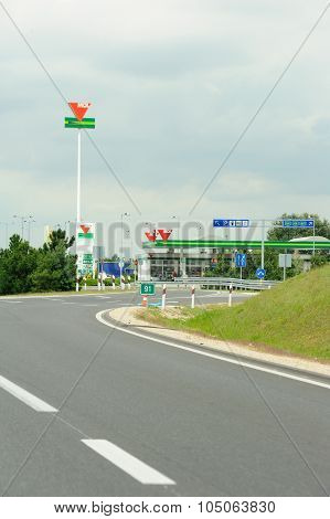 Mol Group Petrol Station On Hungarian Highway