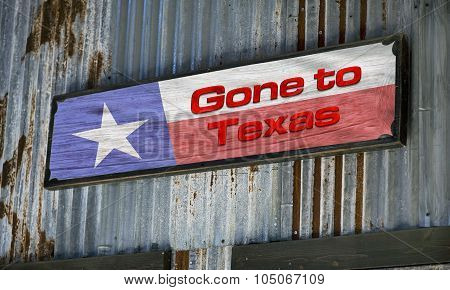 Gone To Texas.