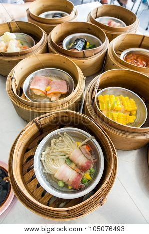 Dimsum Menu With Various Dish