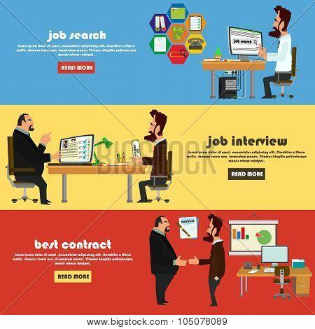 Recruitment flat banner