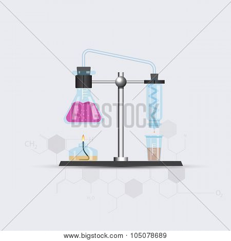 Colorful chemical rectifier picture