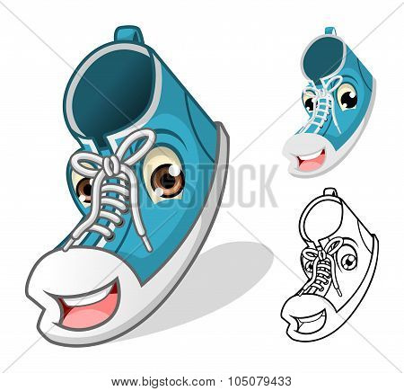 Shoes Mascot Cartoon Character
