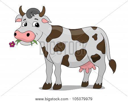 Cartoon cow vector illustration