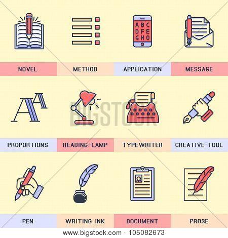 Writer icons