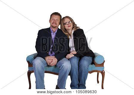 Cute Couple - Studio Shot On White Background