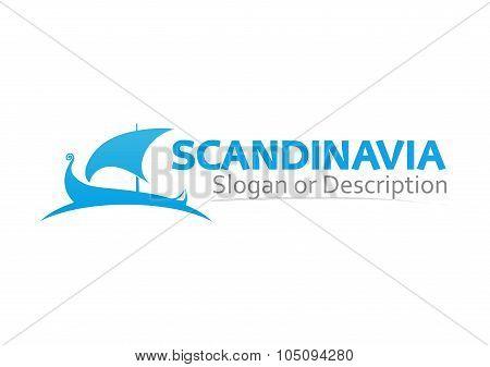 Sign With Scandinavian Drakkar