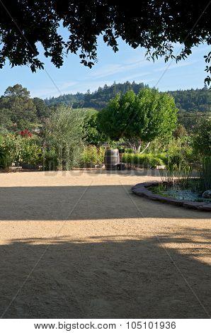 California Vineyard Estate And Courtyard