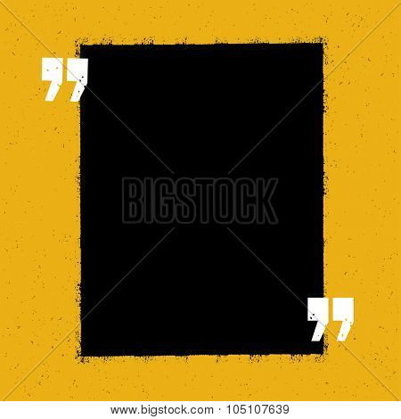 Motivational qute template. On yellow paper texture.