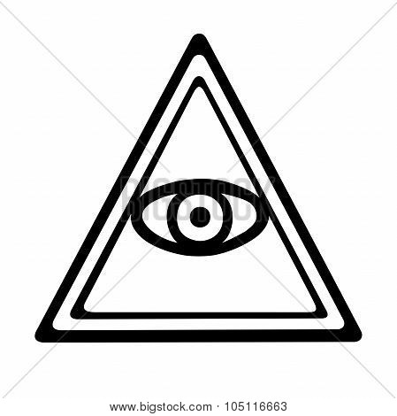 This is an illustration of an eye of providence poster