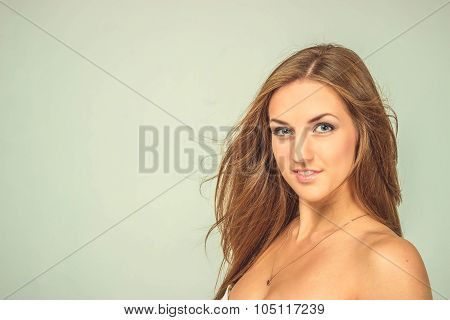 Portrait Of Sexy Beautiful Woman, Isolated