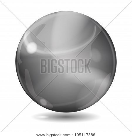 Big Black Opaque Glass Sphere