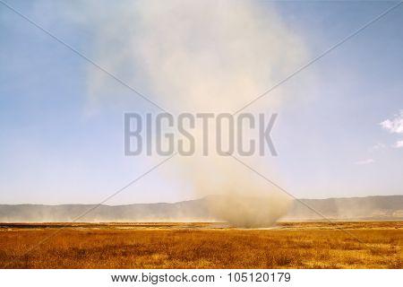 Arising of a sandstorm