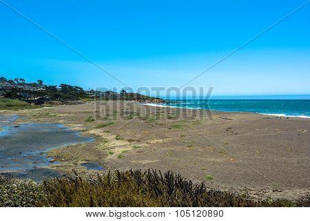 The beach of Cambria, California