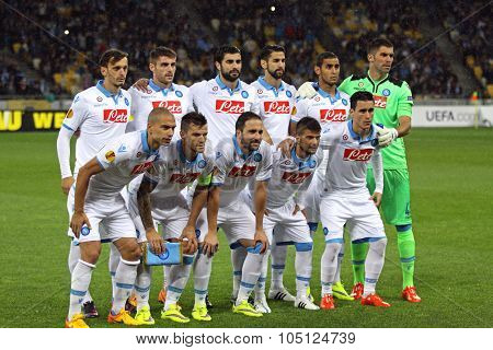 Ssc Napoli Team Pose For A Group Photo