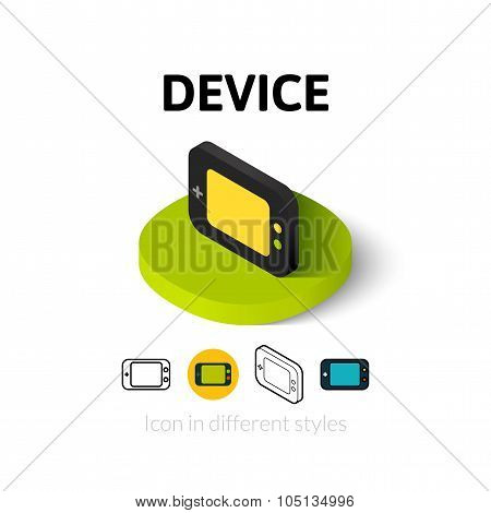 Device icon in different style