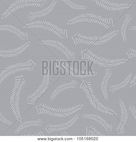 Seamless With Carved Fern Fronds