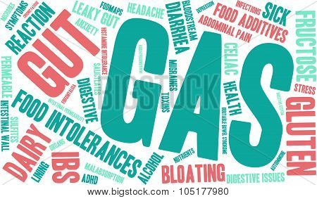 Gas word cloud on a white background. poster