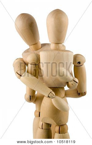 Wooden Dumies Hug