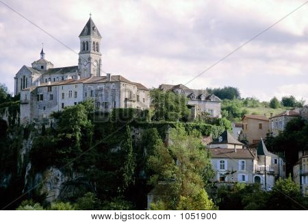 French Village On Hill The Lot Valley Midi France