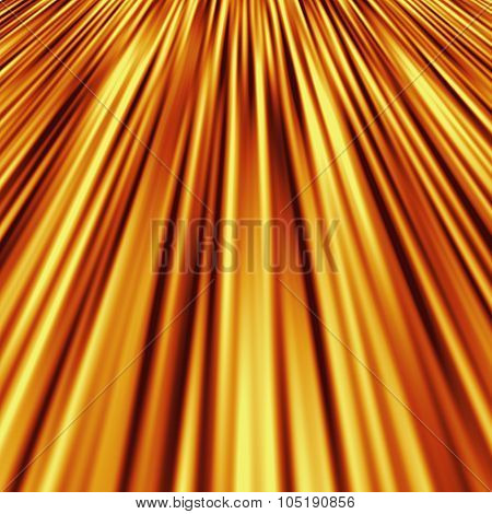 Perspective gold strips rays pattern texture