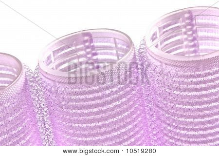 Hair Rollers Isolated On White Background