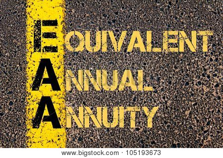 Business Acronym Eaa As Equivalent Annual Annuity