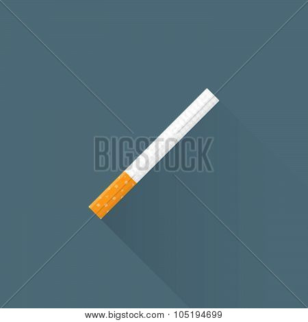 Vector Flat Usual Cigarette Illustration Icon.