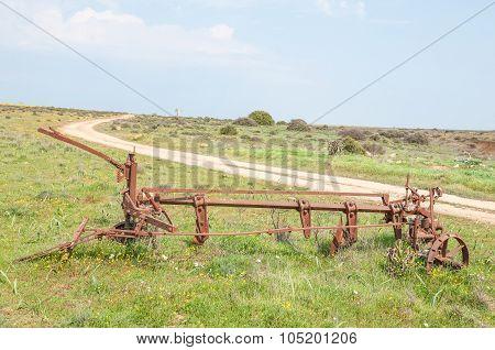 Historic Old Plow At Matjiesfontein Farm