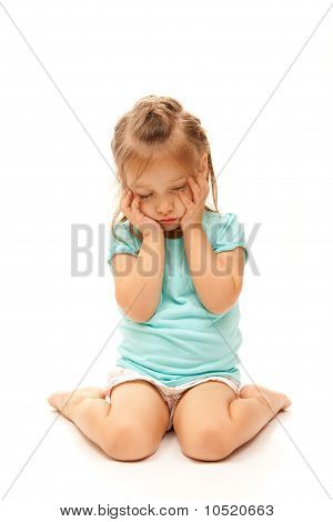 Young Girl Posing Sad