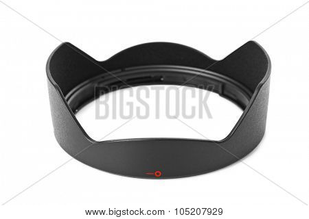 Lens Hood for camera isolated on white background