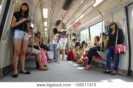 Passengers In The Train Mrt