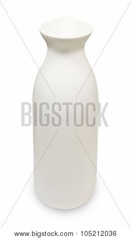 Japanese Sake Bottle On A White Background