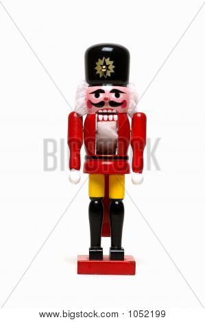 Christmas Nutcracker On White