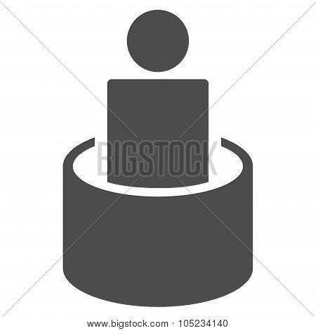 Patient Isolation Flat Icon