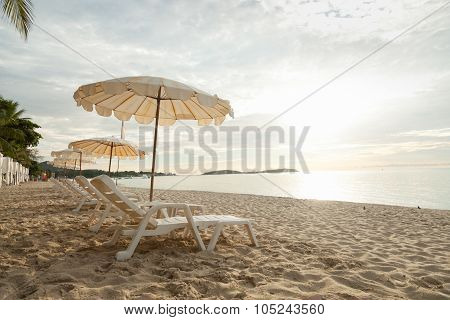 Beds And Umbrellas