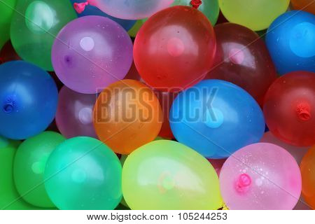 Colorful Water Balloon Background