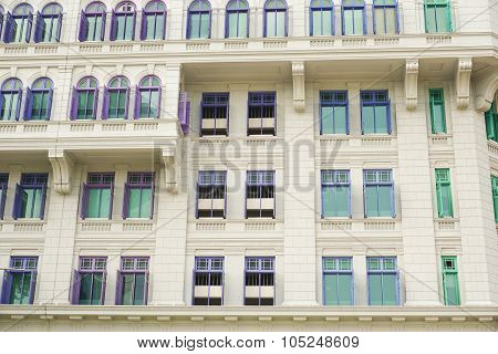 Colorful British Colonial Style Windows From Singapore