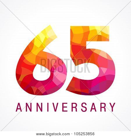 65 anniversary red colored logo.