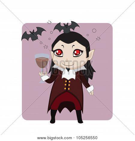 Vampire Halloween monster mascot