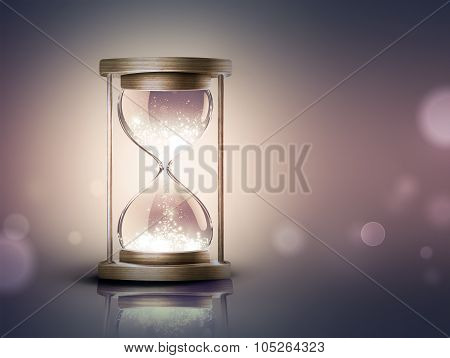 Hourglass With Shining Light