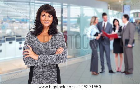 Beautiful asian business woman. Accounting and finance background.