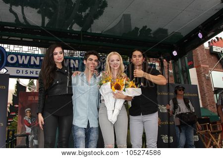 LOS ANGELES - OCT 17:  Sofia Carson, Cameron Boyce, Dove Cameron, Booboo Stewart at the Stars of