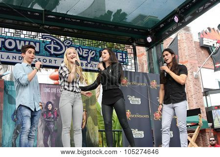 LOS ANGELES - OCT 17:  Cameron Boyce, Dove Cameron, Sofia Carson, Booboo Stewart at the Stars of