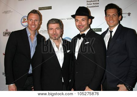 LOS ANGELES - OCT 17:  The Tenors at the  LAPD Eagle & Badge Foundation Gala at the Century Plaza Hotel on October 17, 2015 in Century City, CA