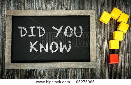 Did You Know? written on chalkboard