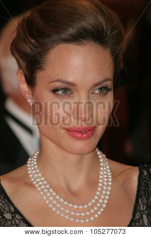 VENICE - SEPT 2:Angelina Jolie attends the premiere of 'The Assassination of Jesse James by the coward Robert Ford' at the 64th Venice Film Festival on September 2, 2007 in Venice.