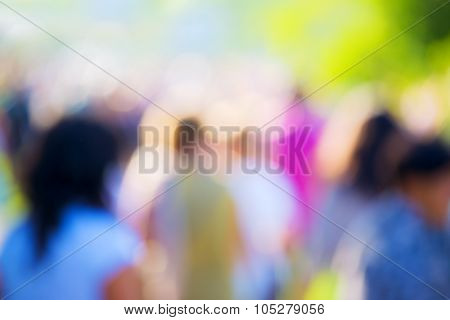 Blur Crowd At Outdoors Concert
