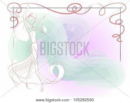 Sketch Of Young Bride