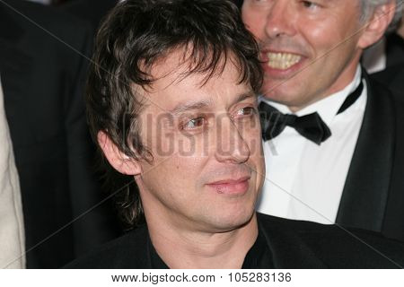 CANNES, FRANCE - MAY 16: Composer Eric Serra attends a screening of 'Joyeux Noel' at the Grand Theatre during the 58th International Cannes Film Festival May 16, 2005 in Cannes, France
